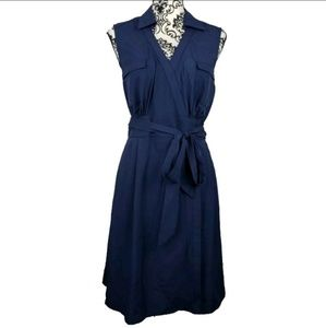 41 Hawthorn Blue Sleeveless Wrap Dress